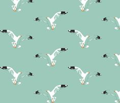 Seagulls fabric by candyjoyce on Spoonflower - custom fabric