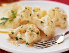 Roasted Cauliflower in Lemon Tahini Sauce