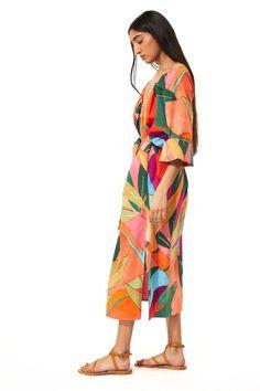 Column Dress, Clothing And Textile, Mara Hoffman, Summer Heat, Organic Cotton, Wrap Dress, Cotton Fabric, Cover Up, Closet