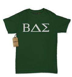 BAE Greek Lettering Fraternity Sorority Womens T-shirt