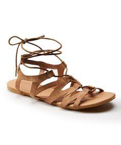 Look at this #zulilyfind! Sand Lace-Up Sandal #zulilyfinds