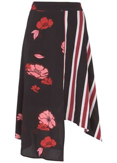 38eb388cba3 Elyse Print Striped Midi Skirt