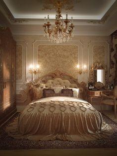 #спальня во дворце. Студия элитного жилья Александра Акименкова www.master-service.ru #badroom #royal #mood