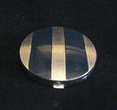 1930s Evening In Paris Compact Mirror Enamel Compact Art Deco Bourjois Makeup Compact