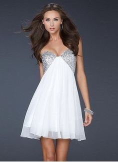 A-Line/Princess Sweetheart Short/Mini Chiffon Charmeuse Cocktail Dress With Ruffle Beading