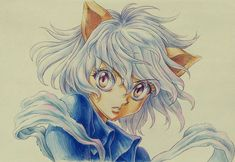 """Neferpitou sketch by Takehiko Abiru, the animator who served as animation director on the """"Hunter x Hunter"""" end credits."""