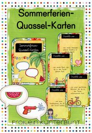 Summer vacation quassel cards - teaching material in the subjects German & interdisciplinary Millenn Science Student, Social Science, Education System, Art Education, School Classroom, School Teacher, Us Universities, Science And Nature, Classroom Management