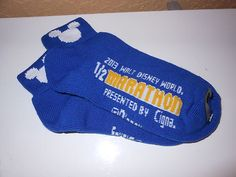 Disney Marathon Donald DUCK1 2 Marathon 2013 Limited Race Retreat Gift Socks