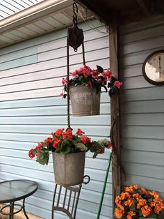 Great use for an antique pulley