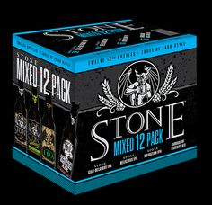 From Stone : We aim to keep you on your toes and never let you get bored. Not that it's possible to be bored drinking a Stone b. Beer Brewing, Home Brewing, Craft Bier, More Beer, Getting Drunk, Light Beer, Oclock, Brewery, Packaging Design