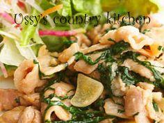 豚肉の大葉炒め生野菜添えの画像