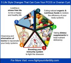 5 Life Style Changes That Can Cure Your PCOS or Ovarian Cyst [Infographic]  | Fight Your Infertility