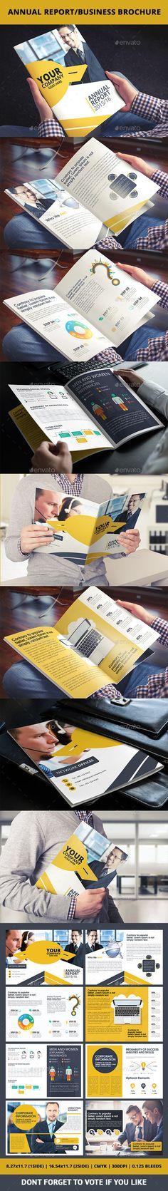 Annual Report/Business Brochure Template #design Download: http://graphicriver.net/item/annual-reportbusiness-brochure/10367767?ref=ksioks