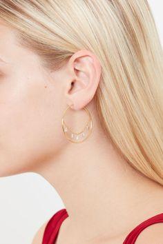Honey Honey Hoop Earrings in Gold, Silver & Rose Gold Heart Earrings, Gold Earrings, Queen Of Hearts, Fashion Jewellery, Hoop, Dangles, Rose Gold, Silver, Beauty