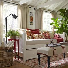 . Use it to add a refined touch to the den, then pair it with cozy pillows and blankets to give out-of-towners a restful night's sleep.