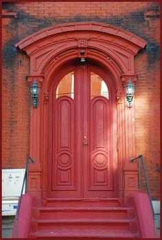 Newark~red door photo by -cricket-, via Flickr