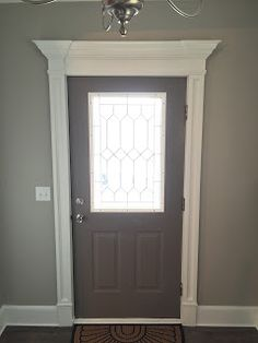 Front Door Trim Dark Door Crown Molding & New sill | My Work | Pinterest