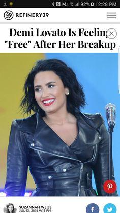 "Demi Lovato says she's feeling ""free"" after her breakup with Wilmer Valderrama. Wilmer Valderrama, Latest Gossip, Demi Lovato, Breakup, Attitude, Leather Jacket, Celebs, Free, Friends"