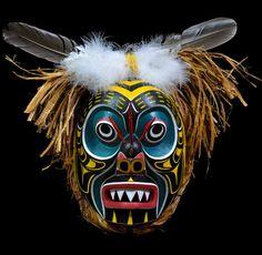 Bumble Bee Mask by Wayne Alfred, Kwakwakawakw (Namgis) artist (W120104)