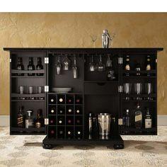Alexandria Expandable Home Bar Liquor Cabinet- china hutch idea