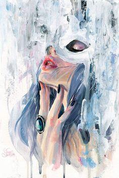 art inspiration Moira Canvas Art by Tanya Shatseva Art And Illustration, Animal Illustrations, Illustrations Posters, Surrealism Painting, Painting Art, Fine Art, Aesthetic Art, Portrait Art, Art Inspo