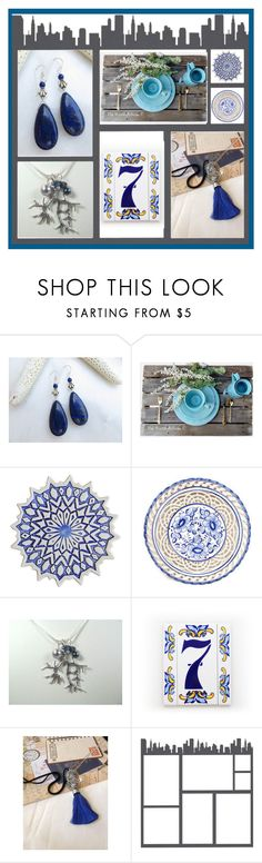 """""""Night Sky"""" by inspiredbyten ❤ liked on Polyvore featuring Lazuli, Rustico and vintage"""