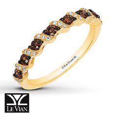 Le Vian Chocolate Diamond Ring 1/3 cttw Diamonds 14K Honey Gold