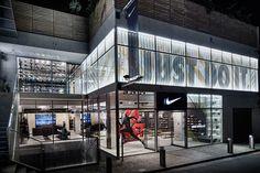 The Nike Kichijoji Running Concept Store Opens Its Doors - Freshness Mag Shop Interior Design, Retail Design, Store Design, Exterior Design, Display Design, Design Shop, Nike Retail, Retail Facade, Mall Facade