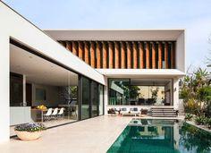 """Vejam que projeto inspirador desta casa em forma de """" L""""!"""
