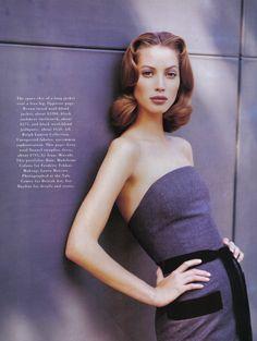 ☆ Christy Turlington | Photography by Patrick Demarchelier | For Harper's Bazaar Magazine US | September 1992