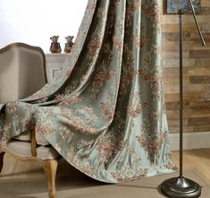 A Pair of Floral Damask Jacquard Custom Curtains Up to Faux Silk Base Jacquard Fabric Curtain Panels Damask Curtains, Faux Silk Curtains, Luxury Curtains, Curtains For Sale, Curtain Fabric, Drapes Curtains, Decorative Curtains, Elegant Curtains, Drapery