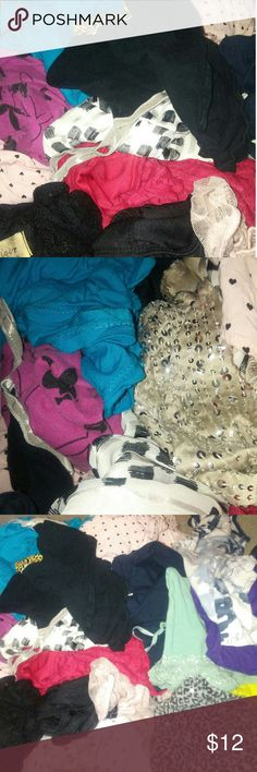 Clothing Mystery box All sized M includes brands like  Forever 21 Pink Playboy Dots Rue 21  And much more! Each box comes with 4 pieces and a make up product -(never used)  or hair accessory and includes free gift ???? Other