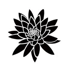 black flower tattoos - Google Search