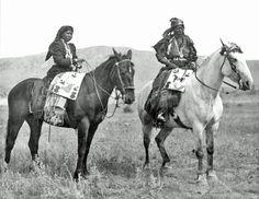 Nez Perce Nimiipu with horses, Washington - Names: Unknown - Photo by E.H. Latham - 1906.