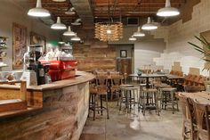 Reclaimed wood panelling absorbs more sound effectively compared to other types of wood thus are suitable for restaurants or coffee shops.