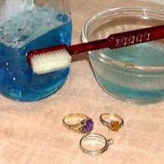 Make Your Own Jewellery Cleaner:  * 1 tbsp dishwashing detergent  * 1 tbsp baking soda  * 1 tbsp household ammonia  * 3 cups warm water