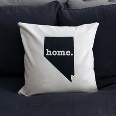 The Nevada Home Pillow is the perfect way to show off your state pride in your home, while also helping to raise money for multiple sclerosis research. This ele