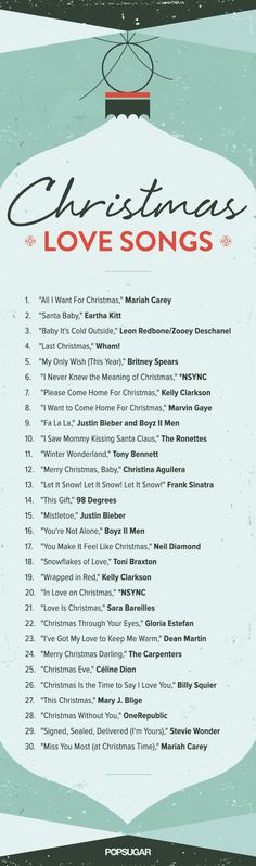 Christmas love songs: listen to the Spotify playlist now!: