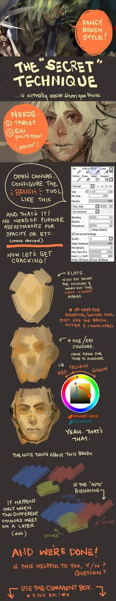 Very simply, the format of the program/brush i used for my latest digital painting yyeaaah, basically just about the brush and a few extra pointers. feel free to ask anything. happy painting!