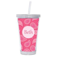 Our 16 oz. Acrylic Tumblers with Straws are absolutely adorable and are a great gift for a friend, teacher or yourself. Great for hot or cold drinks, our BPA-free, eco-friendly tumblers are double walled and do not sweat! Personalize it by simply choosing a font from the list provided.  Tumblers are not safe for the microwave and should be hand washed.  Proofs are sent within 24 hours.  Tumblers ship within 2-3 business days.