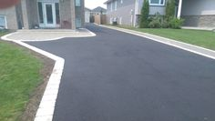 Image result for asphalt driveway edged with paving stones