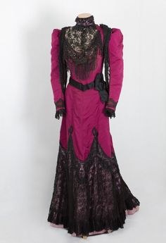 House of Worth, c.1890. I think most people have a tendency to picture history in black and white, so I love antique clothing in bright colors like this!