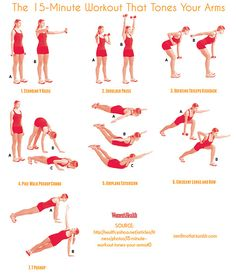 The 15-Minute Workout That Tones Your Arms  #exercise #workout #arms