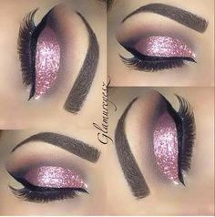 Pink glitter shadow. So pretty for a fairy look