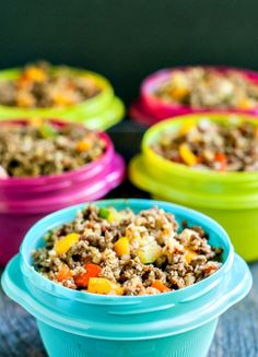 Mexican Cauliflower Rice - a delicious low carb freezer lunch - easy, healthy and tasty!