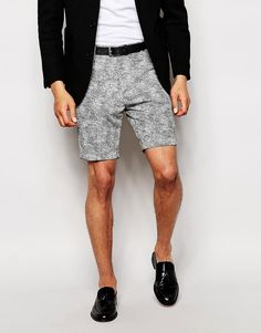 ASOS Smart Shorts In Textured Cloth