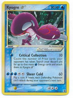 Ultra Rare Pokemon Cards   Cards . Net KYOGRE * HP90 (#382) EX DELTA SPECIES - Water (Ultra Rare ...