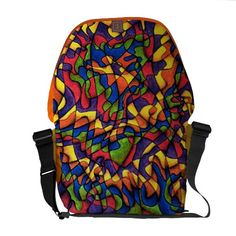#Rainbow Maze Courier Bag http://jaxxisart.com