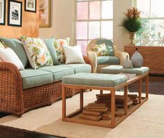 Decorating Living Room Cane Furniture