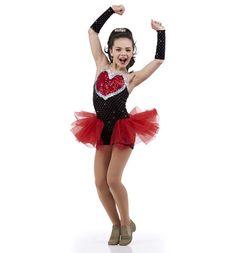 Be Mine Ballet Tap BoyShort Unitard Showgirl Valentine Dance Costume Child/Adult #Cicci